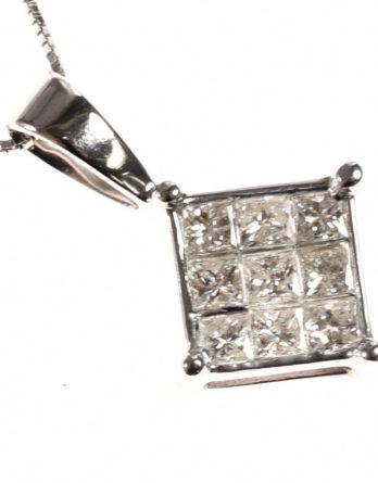 Invisible Set Princess Diamond Pendant