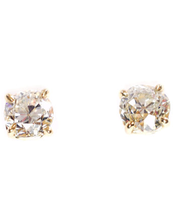 Old Mine Cut Diamond Stud Earrings
