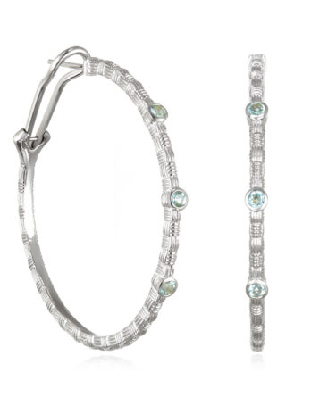 Ariva Fine Jewelry Silver Hoop Earrings