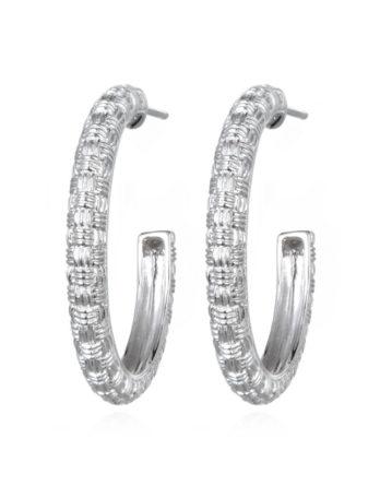 Ariva Fine Jewelry Silver Hoop Earings