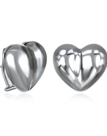 Ariva Fine Jewelry Silver Heart Earrings