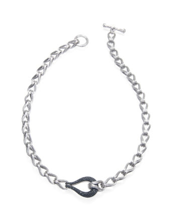 Ariva Fine Jewelry Black Diamond Silver Necklace