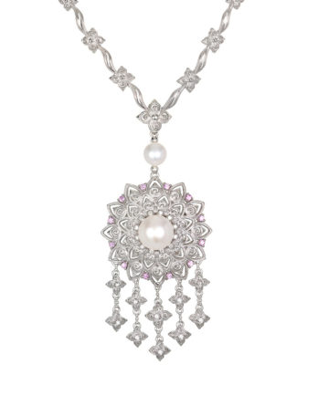 Ariva Fine Jewelry Silver Pearl Necklace