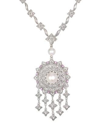 Ariva Fine Jewelry Silver Pearl Necklace