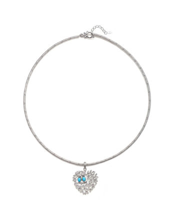 Ariva Fine Jewelry Silver Love Bird Necklace