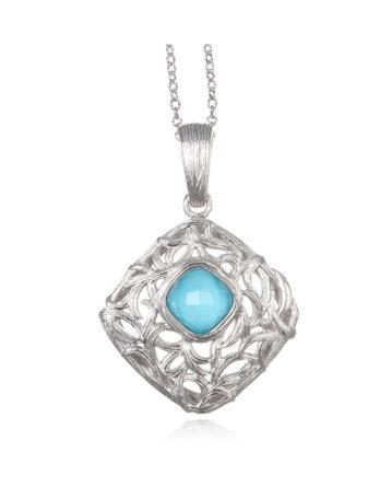 Ariva Fine Jewelry Silver Pendant Necklace