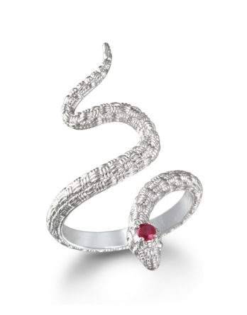 Ariva Fine Jewelry Silver Snake Ring