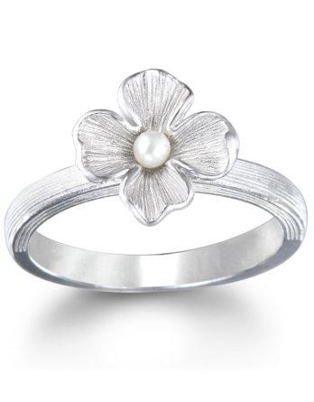 Ariva Fine Jewelry Silver Pearl Ring
