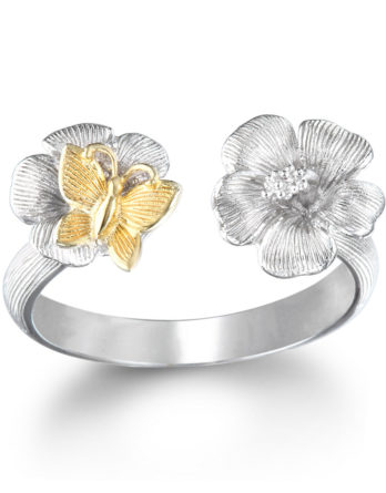 Ariva Fine Jewelry Silver Floral Ring