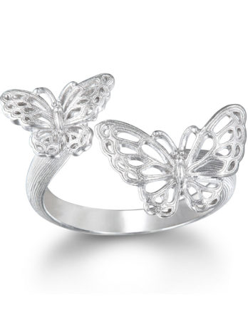 Ariva Fine Jewelry Silver Butterfly Ring
