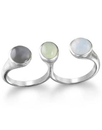Ariva Fine Jewelry Silver Two Finger Ring