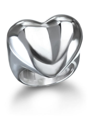 Ariva Fine Jewelry Silver Heart Ring