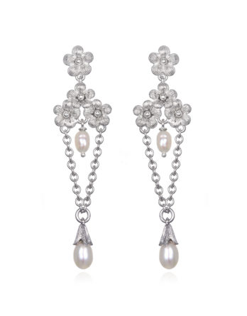 Ariva Fine Jewelry Silver Pearl Earrings