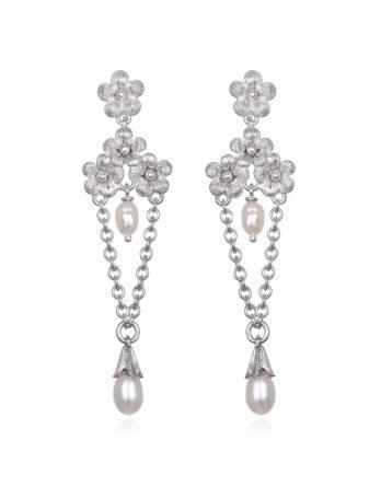Ariva Fine Jewelry Silver Pearl Earrings