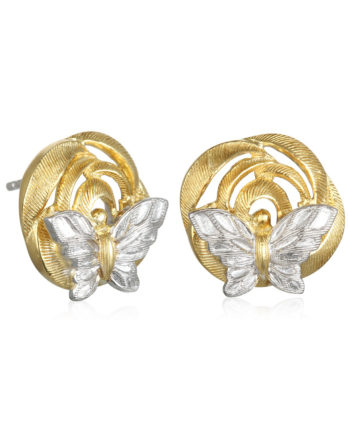 Ariva Fine Jewelry Silver Butterfly Earrings