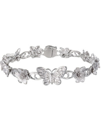 Ariva Fine Jewelry Silver Butterfly Bracelet