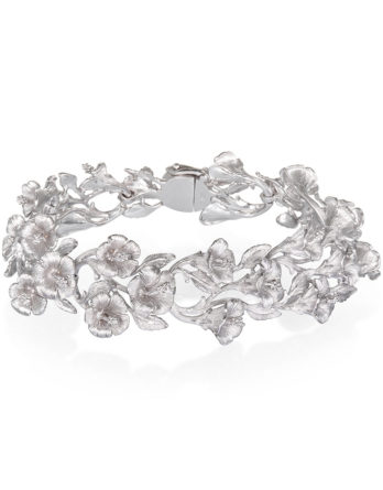 Ariva Fine Jewelry Silver Floral Bracelet
