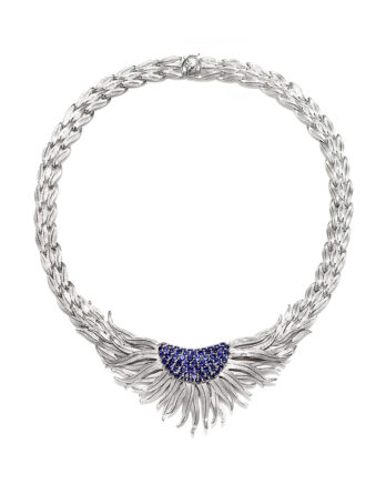 Ariva Fine Jewelry Silver Iolite Necklace