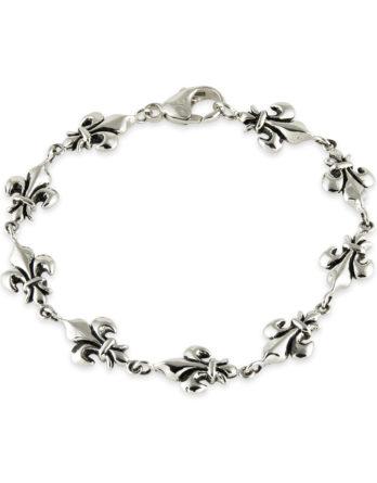 Fleur De Lis Zina Sterling Silver Bracelet