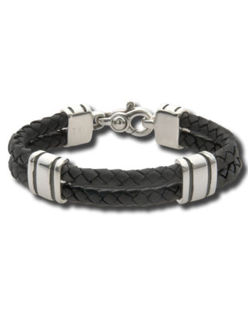 Zina Sterling Silver Leather Bracelet