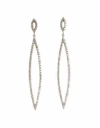 Marquise Diamond Dangle Earrings