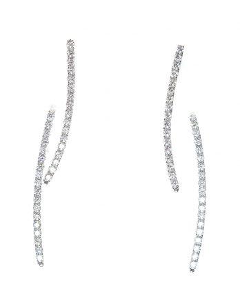 Double Drop Diamond Earrings