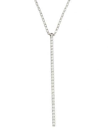 Diamond Bar Drop Necklace
