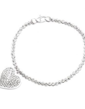 officina Bernardi Sterling Silver Cuore Bracelet