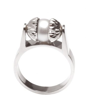 Sterling Silver Pearl Ring by Officina Bernardi