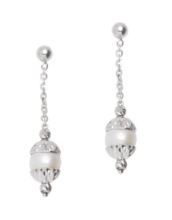 Sterling Silver Drop Earrings by Officina Bernardi